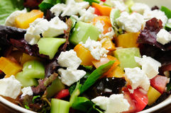 Roasted sugar beet salad with heirloom tomato and feta Stock Photo