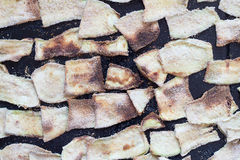 Roasted Summer Squash with Bread Crumbs. Background Royalty Free Stock Images