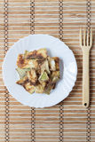 Roasted Summer Squash with Bread Crumbs Royalty Free Stock Photo