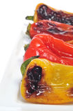 Roasted sweet bite peppers of different colors Stock Images