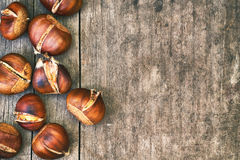 Roasted sweet chestnuts Royalty Free Stock Photo