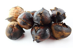 Roasted sweet chestnuts Stock Images