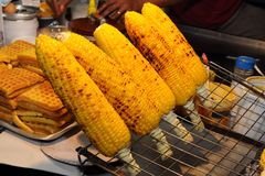 Roasted sweet corns Royalty Free Stock Photos