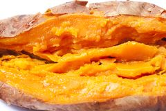 Roasted sweet potato Royalty Free Stock Photo