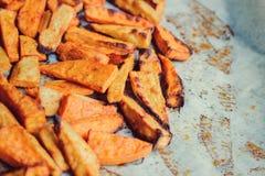 Roasted sweet potato, close up Royalty Free Stock Images