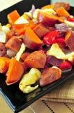 Roasted sweet potatoes Stock Photography