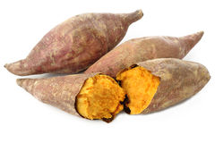 Roasted sweet potatoes Royalty Free Stock Photos