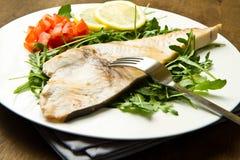 Roasted swordfish Stock Photo