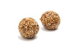 Roasted thala balls. On white background Stock Image