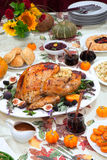Roasted Thanksgiving Turkey Royalty Free Stock Photos