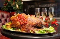 Roasted thanksgiving turkey Stock Image