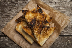 Roasted toast bread Royalty Free Stock Images