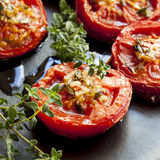 Roasted Tomatoes with Garlic and Thyme Royalty Free Stock Photo