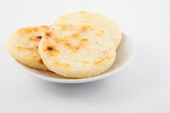 Roasted traditional Colombian corn arepa
