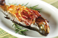 Roasted trout Royalty Free Stock Images