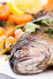 Roasted trout Royalty Free Stock Photography