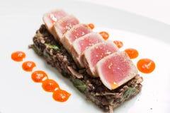 Roasted tuna Stock Photo