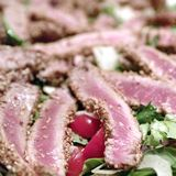 Roasted tuna with sesame seeds Royalty Free Stock Photo