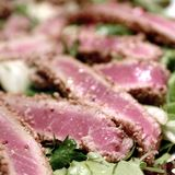 Roasted tuna with sesame seeds Stock Photography