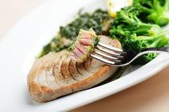 Roasted tuna steak stock images