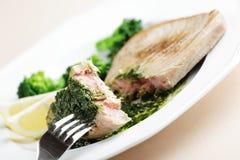 Roasted tuna steak Royalty Free Stock Photo