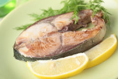 Roasted tuna steak Royalty Free Stock Image