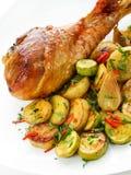 Roasted turkey Stock Photography
