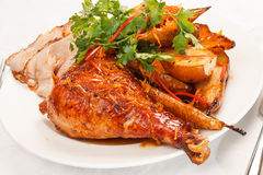Roasted turkey Royalty Free Stock Photos