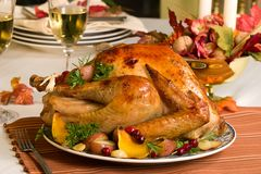 Roasted turkey Royalty Free Stock Images