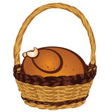 Roasted Turkey in a Basket Stock Photos