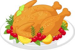 Roasted turkey cartoon Royalty Free Stock Photos