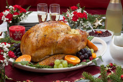 Roasted Turkey for Christmas Dinner Stock Photography