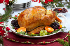 Roasted Turkey for Christmas Dinner Royalty Free Stock Photo