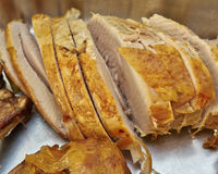 Roasted turkey cut Stock Photos