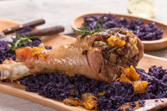 Roasted turkey drumstic Royalty Free Stock Image