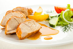 Roasted turkey fillet Stock Images