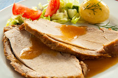 Roasted turkey fillet Stock Photography