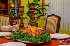 Roasted turkey Stock Photos