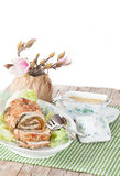 Roasted Turkey Roll Stock Images