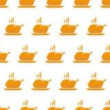 Roasted turkey seamless pattern Stock Photo