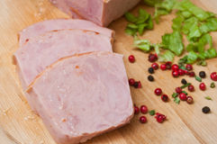 Roasted turkey sliced Stock Images