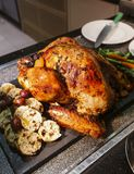 Roasted Turkey for Thanksgiving and Christmas stock photo