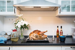 Roasted turkey for thanksgiving day Stock Photography