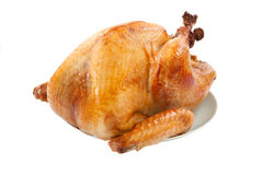 Roasted Turkey on white Stock Photos