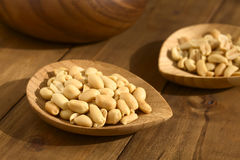 Roasted Unsalted Peanuts Royalty Free Stock Photos