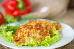 Roasted vegetable cutlets with herbs Royalty Free Stock Images