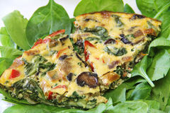 Roasted vegetable fritatta upclose Stock Photography