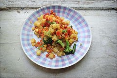 Roasted vegetable mix Royalty Free Stock Photography