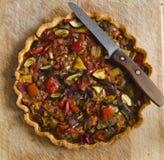 Roasted Vegetable Tart Stock Images