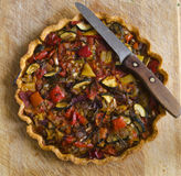 Roasted vegetable tart Stock Images